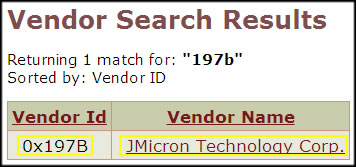 Vendor Search 2